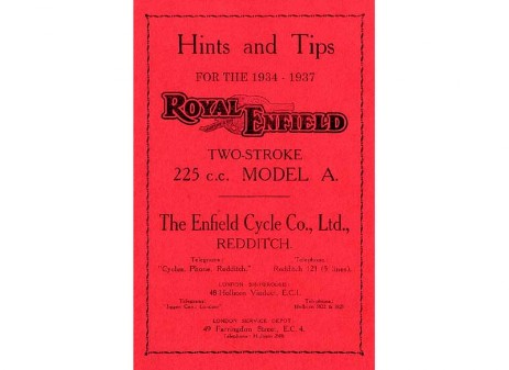 225cc Royal Enfield 2-stroke manual