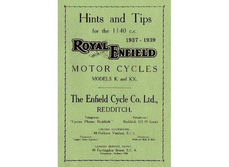1140cc V-Twin Royal Enfield Manual