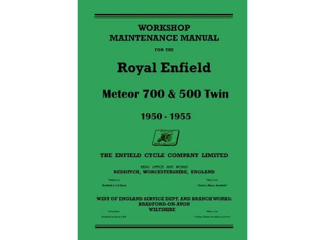 Workshop manuals for Royal Enfield Constellation, Interceptor, Super Meteor, Model G, Model J, Model J2, Crusader