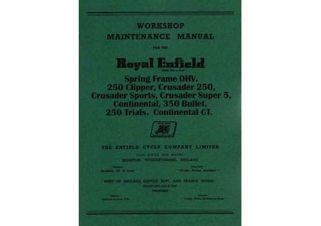 Redditch Royal Enfield Manuals 1940 to 1970 - Royal Enfield