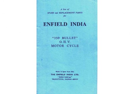 Parts book 1977 to 1984  Royal Enfield Bullet