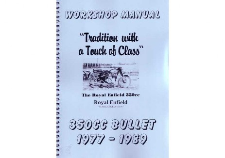 1977 to 1989 Royal Enfield 350 cc Bullet manual
