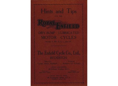 Manual for 1934 Royal Enfield