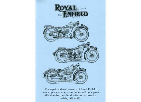 British Royal Enfield1930 and 1931 workshop manual